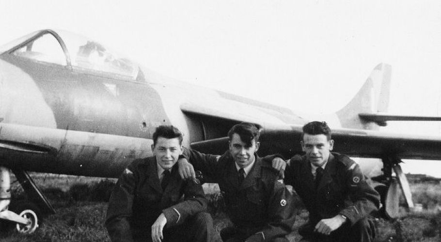 Doug, Dave & Curly at Weston airfield